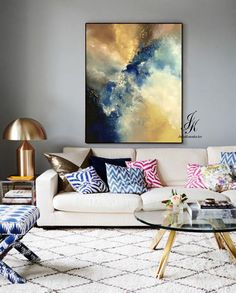 SALE!!! Large Abstract Oil Painting Texture Painting On Canvas by Julia Kotenko