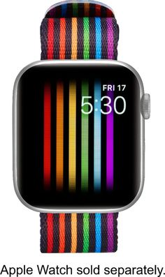 Modal - Woven Nylon Band for Apple Watch and - Pride Stripe Apple Watch 42mm, Apple Watch Bands, Apple Watch Wristbands, Pride Colors, Grey Watch, Watch Faces, Great Bands, Prompt, Rainbow Colors