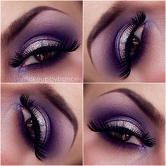 1.) Apply NYX jumbo pencil in MILK on base 2.) apply SIDECAR (naked palette 1) on lid 3.) MAKEUP FOREVER matte purple in crease 4.) TIGI vanilla mixed w/ VIRGIN (naked palette 1) on brow bone 5.) lastly, TOO FACED loose glitter in ANGEL applied on lid.