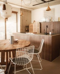 Linen, bamboo and sandy-beige tones appear throughout Strandhotel Zoomers in the Netherlands, which has been designed by creative studio The Other Season. Amsterdam Houses, Small Terrace, Hotel Interiors, The Dunes, Creative Studio, White Walls, Seaside, Kitchen Design, Dining Table