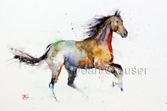 HORSE Watercolor Print by Dean Crouser by DeanCrouserArt on Etsy