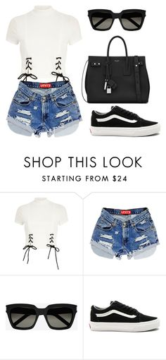 """""""Untitled #722"""" by madelin-ruby ❤ liked on Polyvore featuring River Island, Yves Saint Laurent and Vans"""