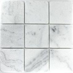 Marmor Mosaik Fliesen 100x100x8mm Neptun Weiss