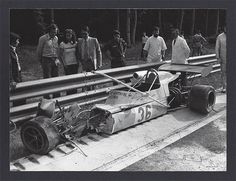 Mike Beuttler - March 732 BMW - Clarke-Mordaunt-Guthrie-Durlacher - XXI Grand Prix de Rouen 1973 - European F2 Championship, Round 9 - Mike Beuttler totalled his car in a major shunt during the trials, he would not start the race...