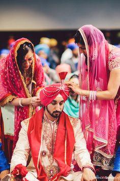 Aline for Indian weddings! India Wedding, Sikh Wedding, Pakistani Wedding Dresses, Punjabi Wedding, Ethnic Fashion, Indian Fashion, Wedding Styles, Wedding Photos, Wedding Stuff