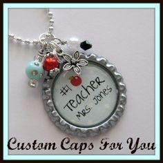 Love this Bottle Cap Pendant Necklace