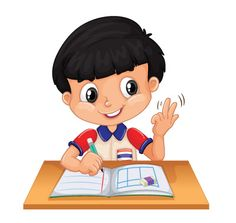 Little boy counting with fingers vector image on VectorStock Reading Cartoon, Clown Crafts, Kids Background, School Frame, Do Homework, Summer Homework, Transportation Theme, School Clipart, Action Words