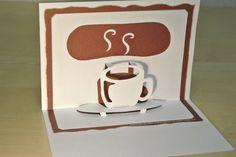 珈琲 Coffee [Origamic Architecture , Pop up card , kirigmi , 折り紙建築 , ポップアップカード]