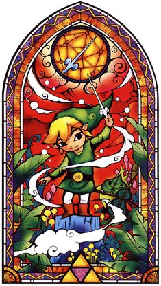 Link Stained Glass Window