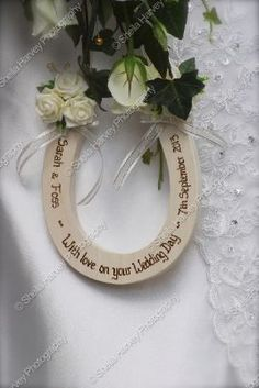 Wedding horseshoe from  www.blackberryweddingdesigns.com