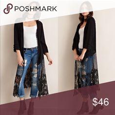 SPECIAL PRICE Lyric crochet kimono Medium Sweaters Cardigans