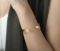 Canopy Bracelet Leaf Bracelet Leaves Bracelet Gold by ShlomitOfir