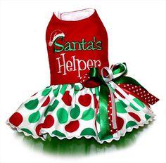 Santa's Helper Dog Dress