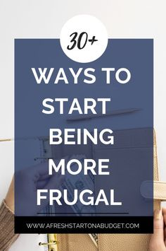 More than 30 ways to be frugal and save more money - A Fresh Start on a Budget Being stressed about money is a horrible way to live. Here are some ways to be frugal to be frugal that will make money easier. Make Easy Money, Ways To Save Money, Money Tips, Money Saving Tips, Saving Ideas, Frugal Living Tips, Frugal Tips, Budgeting Finances, Budgeting Tips