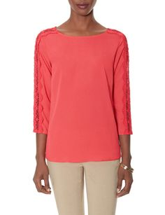 Lace Sleeve Blouse from THELIMITED.com
