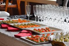 canapés served at a Mulberry Lodge wedding