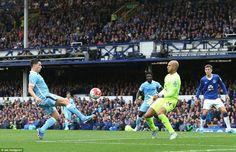 Nasri scores against Everton, August 2015
