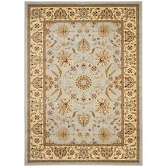 An intricate Oriental design and dense, thick pile highlight this power-loomed rug. This rug combines great styling and comfort with a durable powerloomed construction making this ultra low shedding rug easy to maintain.