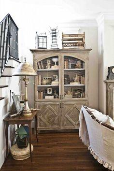 cedar hill farmhouse Antiquing cabinetry http://s.bhome.us/1aM1P0Qa via bHome https://bhome.us