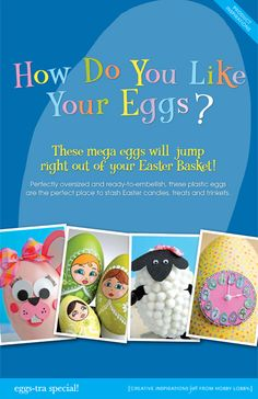 Make your Easter decorations egg-stra special with these DIY ideas for plastic eggs!