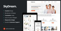 SkyDream Responsive Multi-Purpose WordPress Theme   http://themeforest.net/item/skydream-responsive-multipurpose-wordpress-theme/4333137?ref=damiamio          SkyDream is a Multi-Purpose Premium WordPress Theme, that is loaded with many different options, and is fully responsive, and super flexible. It contains a total of 40 page layouts built with HTML5 & CSS3! The clean, modern design can be used for any type of website; business, portfolio or company website. It has the latest…