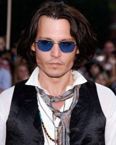 Blue tinted glasses look cool on Johnny