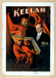 Harry Kellar, consulting with the Devil (1894)