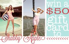 Win a $50 gift certificate to Shabby Apple! #giveaway #vintage #shabbyapple