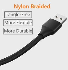 d40fe365a4 2 Pack ANDROID SAMSUNG LONG 6FT Heavy Duty Fast Charging Cord USB Cable  Charger  ASJXH