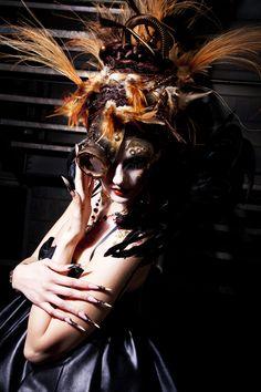 Steampunk Show in Cosmoprof Bologna!  MUA Valeria Orlando   Styling Stefania Sciortino  Model Cecilia Lambruschi   Gioielli OneOff EmotionalHardware   Accessori viso steampunk Cristina Picuti   Ph. Cristina Silletti