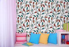 Papel de parede adesivo teens floral - StickDecor | Decoração Criativa