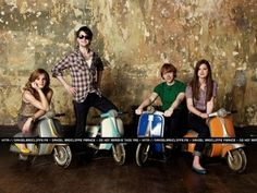 Harry Potter Photo: Bonnie Wright  Daniel Radcliffe Emma Watson and Rupert Grint at Entertainment Weekly,2009