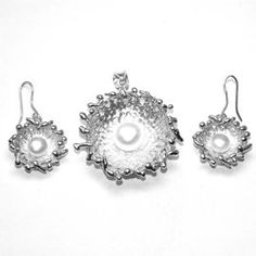 Pearl 925 Sterling Silver Pendent And Earrings Jewelry Set Gemstone: Pearl Stone Size: 12, 8 MM Stone Shape: Round Weight: 13.6, 9.2 Gram Pendent And Earrings Size: 47, 39 MM
