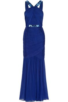 Matthew Williamson Embellished silk-chiffon gown  9086ad316