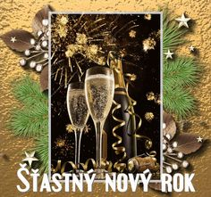 vanoce_novy_rok_novorocni_prani Easy Craft Projects, Easy Crafts, Foto Gif, Happy New Year, Merry Christmas, Education, Photos, New Years Eve, Merry Christmas Background