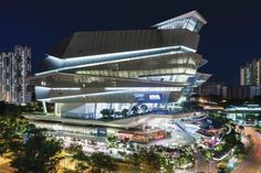 Designed by Andrew Bromberg of Aedas, this mixed-use complex in Singapore may be the only structure where you can shop on a Saturday afternoon, go to a rock concert that night, and return to the same seat for Sunday church services.