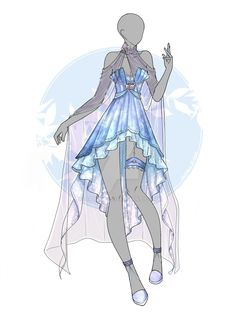 Dress Design Drawing, Dress Drawing, Clothing Sketches, Dress Sketches, Anime Outfits, Cool Outfits, Fashion Outfits, Drawing Anime Clothes, Hero Costumes