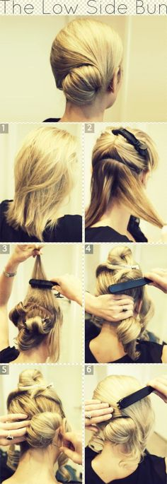 The Low Side Bun Hairstyle Tutorial