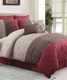 Look what I found on #zulily! Red Covington Comforter Set by Victoria Classics #zulilyfinds