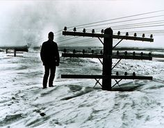 Snow in Jamestown, North Dakota, 1966