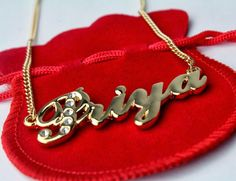 Name Necklace Priya - Gold Plated Personalised Necklace with Swarovski Elements Name Wallpaper, Wallpaper Gallery, Mobile Wallpaper, Monogrammed Gifts For Her, Monogram Gifts, P Letter Design, Tattoo Name Fonts, Stylish Name, Beautiful Girl Facebook