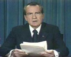 1974-  Richard Nixon resigns from office amidst the Watergate scandal in the face of what could have meant impeachment and removal from office by Congress.