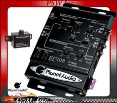 PLANET AUDIO 2-Way Electronic Crossover & Remote #EC10B