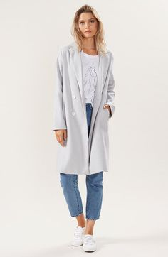 Staple the Label Online Clothing Boutiques, Online Shopping Sites, Playsuits, Wool Coat, Fashion Forward, Duster Coat, Label, Feminine, Coats