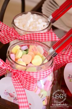 StoneGable: Valentine's Day Hot Chocolate Bar for school parties.