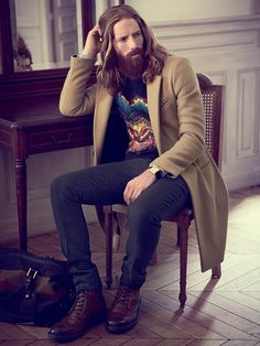 Manly style. Thanks to Sandro, Dries Van Noten, Burberry, Benetton and Barbour ! //