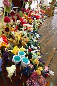 AWESOME crochet flower garden