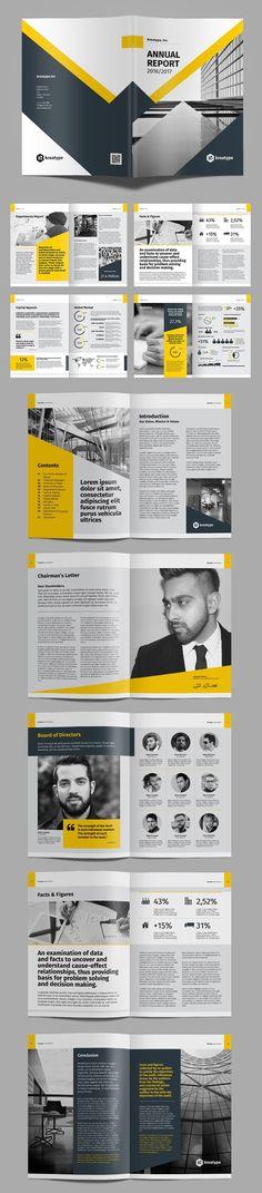 Creative Annual Report 2017 Brochure Template