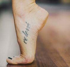 Relevé tattoo
