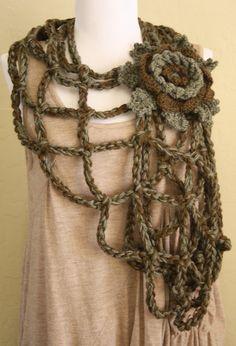 Blooming Vine- Crochet Pattern pdf, via DanDoh on Etsy Really, Really, Really wish I knew how to crochet.